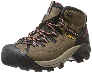 KEEN Women's Targhee II Mid Waterproof Hiking Boot,Black Olive/Slate Rose,5 M US