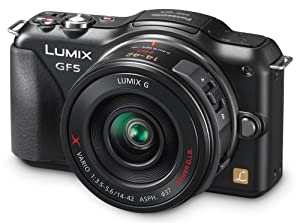 Panasonic Lumix DMC-GF5XK Live MOS Micro 4/3 Compact System Camera with 3-Inch Touch Screen and 14-42 Power Zoom Lens (Black)