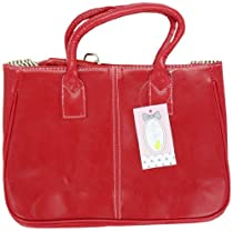 Ginkgo Sotre Fashion Women Korea Simple Style PU leather Clutch Handbag Bag Totes Purse Red