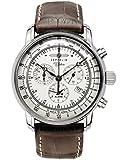 Zeppelin Herrenarmbanduhr Special Edition 100 Jahre Zeppelin Chronograph Alarm 12-Stunden-Stoppfunktion Quarz Silver 7680-1