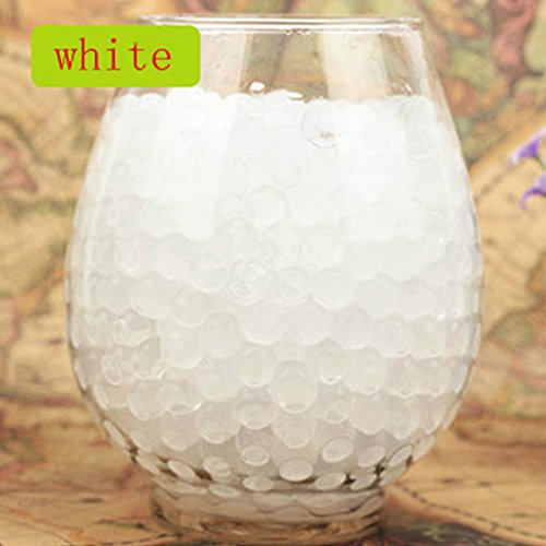LingStar Deco Vase Filler Water Pearl Storing Jelly Beads Wedding Home Decor Display White 1200beads 12pack (Light Blue Water Pearls compare prices)