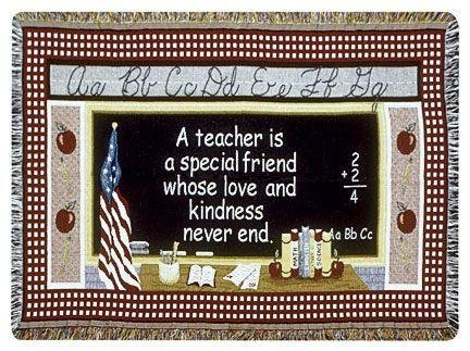 """Teacher"" Thank You Gift Afghan Throw Blanket 40"" X 50"" front-1063769"