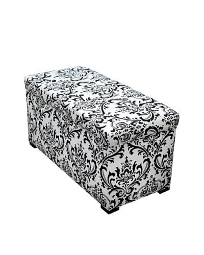 Sole Designs Angela Traditions Storage Trunk, Black/White