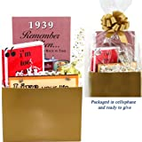 75th Birthday Gift Basket - Live Your Life - with 1939 Trivia Booklet