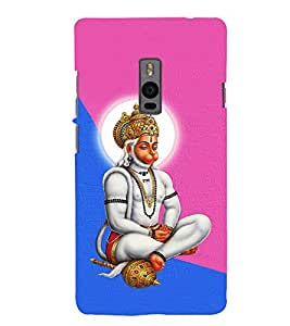 Monojavaya Hanuman Cute Fashion 3D Hard Polycarbonate Designer Back Case Cover for OnePlus 2 :: OnePlus Two :: One +2