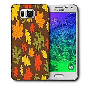 Snoogg Multicolor Leaves Printed Protective Phone Back Case Cover For Samsung Galaxy SAMSUNG GALAXY ALPHA