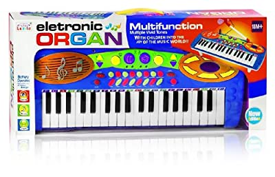 Multi Functional Electronic Keyboard with Microphone for Kids - Blue