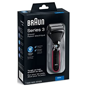 Braun Series 320S-4 Shaver (Red/Grey)
