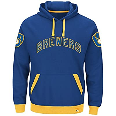 """Milwaukee Brewers Majestic MLB """"Forever"""" Cooperstown Hooded Sweatshirt"""