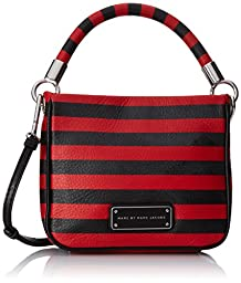 Marc by Marc Jacobs Too Hot To Handle Novelty Stripe Hoctor Cross Body, Cambridge Red/Multi, One Size