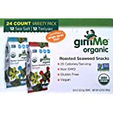 Gimme Organic Roasted Seaweed Snacks 24 Count Variety Pack (12 Sea Salt & 12 Teriyaki)... by Gimme Health Foods