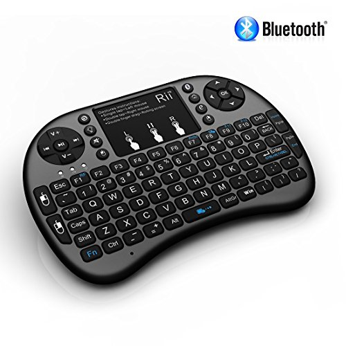 Rii i8+ BT Mini Wireless Bluetooth Backlight Touchpad Keyboard with Mouse for PC/Mac/Android, Black (RTi8BT-5) (Mac Touchpad Keyboard compare prices)