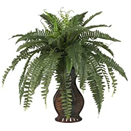 Nearly Natural Boston Fern w/Urn Silk Plant