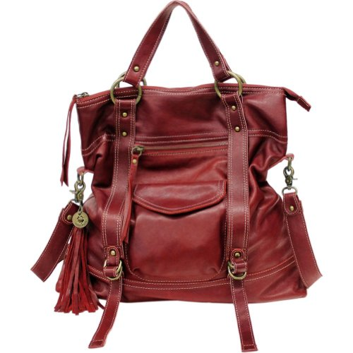 Lucky Brand Fresno Backpack Handbag (Wine)