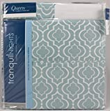 Divatex Tranquil Nights Luxury Weight Bedding Medium Sea Green with White Pattern Queen 6 Piece Sheet Set