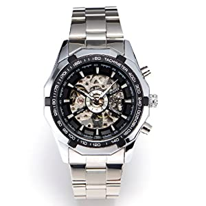 Winner - Reloj de pulsera hombre, acero inoxidable, color plateado por WINNER