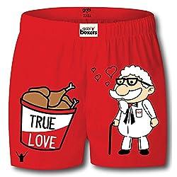 Gabi Men's Red Boxer Shorts (X-Large)