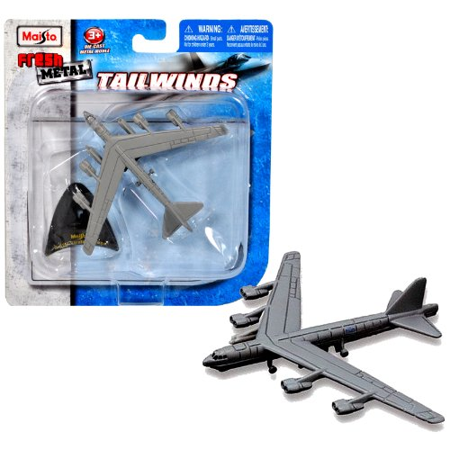 Maisto Fresh Metal Tailwinds 1:493 Scale Die Cast United States Military Aircraft - U.S. Air Force Long-Range, Subsonic, Jet-Powered, Strategic Bomber B-52H Stratofortress with Display Stand