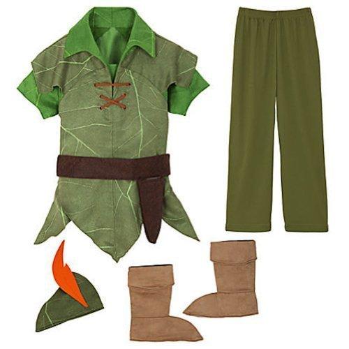 Disney Peter Pan Costume Authentic [ 2 , 3 ] [ 4 ] [ 5 , 6 ] [ 7 , 8 ] [ 10 ] (XS 4 Extra Small) (Disney Store Peter Pan Costume compare prices)