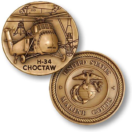 H-34 Choctaw Marine Challenge Coin