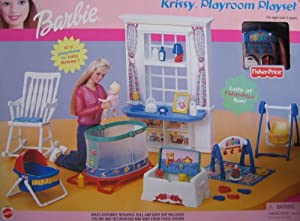 amazon com barbie krissy playroom playset w baby swing Toy Bin Toy Chests for Boys