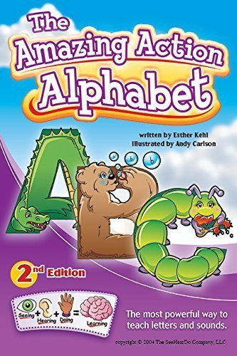 Amazing Action Alphabet Flip Chart-Teach Kids Letter Sounds Fast to Learn to Read (Phonic Flip Chart compare prices)