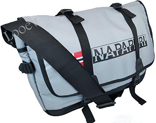 Borsa Tracolla UOmo Donna Napapijri Bag Messenger Woman Men N8T03 Journey Light Grey
