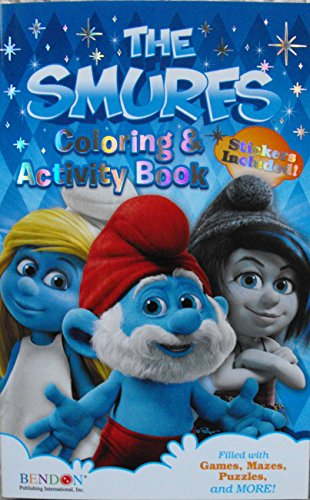 The Smurfs Digest Coloring and Activity Book 160 Pg with Stickers. - 1