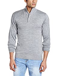 Proline Men's Acrylic Sweater (8907007143179_PC09020_Medium_Grey Marl)