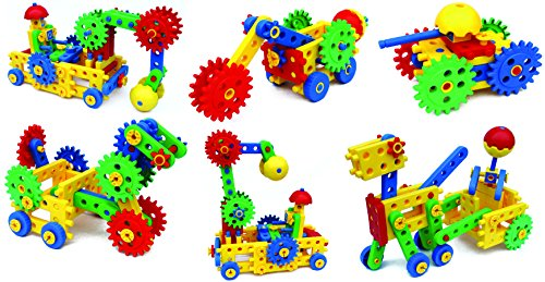 559f5ba07 ETI Toys - Ultimate Blocks   Gears for Boys and Girls 109 Piece Set ...