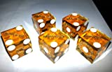 5 x Harveys Orange Casino Craps Dice / Die