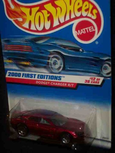 2000 First Editions -#12 Dodge Charger R/T 5-Spoke Wheels #2000-72 Collectible Collector Car Mattel Hot Wheels 1:64 Scale - 1