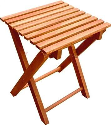 Klapphocker Blumenhocker 2 Hocker im Set Eukalyptusholz Beistelltisch Tisch von DOKADO bei Gartenmöbel von Du und Dein Garten