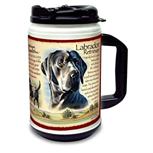 American Expedition 24oz Plastic Thermal Mug Black Lab