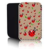 Biz-E-Bee Exclusive 'CUTE LADYBIRD - COFFEE' (N2) Protective Neoprene Pouch for SONY XPERIA X - Shock & Water Resistant Cover, Case, Pouch, Slip - Fast Ship UK