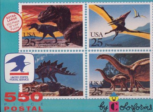 Item #561, 550 Piece Dinosaurs Postal Puzzle