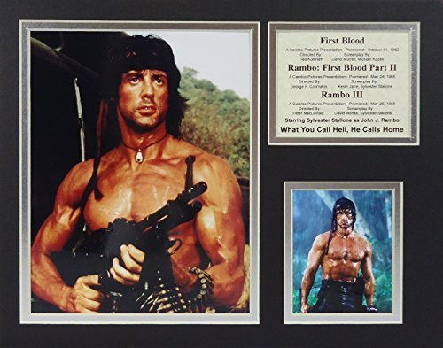 "Rambo Trilogy 11"" X 14"" Unframed Matted Photo Collage By Legends Never Die, Inc by Legends Never Die [並行輸入品]"