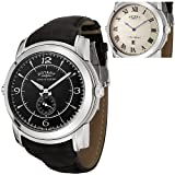 ROTARY Watches:Men's Revelation Reversible Face Black Leather