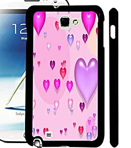 ColourCraft Beautiful Hearts Design Back Case Cover for SAMSUNG GALAXY NOTE 2 N7100