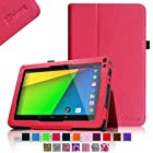 Fintie Premium Vegan Leather Case Cover for 9 Android Tablet inclu. NeuTab N9 Pro 9, JYJ 9 Inch Android 4.4 Kitkat Tablet PC, DigiToys Electronics 9 Inch, Contixo LA903 9 Tablet PC, Dragon Touch N90 9 Tablet PC, ProntoTec 9 Inch Capacitive Touch Screen Tablet PC, ProntoTec 9 Inch HD Android Tablet PC, Alldaymall 9, iRulu x1s - 9, iRulu 9 Inch Tablet Model AL109, Goldengulf 9 Inch Tablet ATM7021, AKASO KingPad A90, Digital Reins 9, Andteck TouchTab 9, Zeepad9XN 9, Tagital® T9X 9 Quad Core Android 4.4 KitKat Tablet PC, Tagital 9 A23, Epassion Eg9 9'', Polaroid PTAB935 9 Android Tablet , RCA Tablet 9 inch, Riin 9 A20, Accmart 9 inch Capacitive(PLEASE check the complete compatible tablet list under Product Description) - Magenta