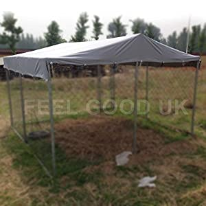 Top Cover for 3m x 3m Walk In Dog Kennel Pen Run Outdoor Exercise Cage - DOG COVER 03 UK