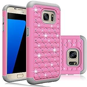 "Galaxy S7 Case,ECâ""¢ Hybrid Armor Dual Layer Studded Rhinestone Bling Protective Case for Samsung Galaxy S7/Samsung SM-G930"