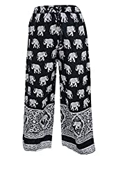 Indiatrendzs Women Pant Rayon Animal Print Black Evening Wear Yoga Harem Pants