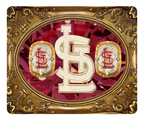 St.Louis Cardinals Mouse Pad,Customize Gold Frame Mouse Pad at Amazon.com