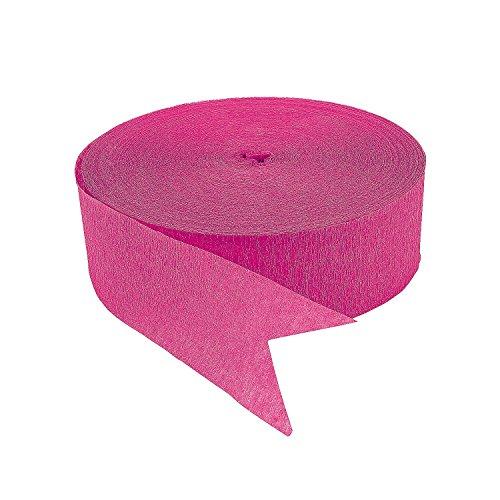 Fun Express Hot Pink Jumbo Streamers Novelty, 500'