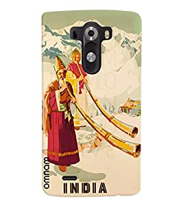 Omnam Indian Art From Himalayas Printed Designer Back Cover Case For LG G3
