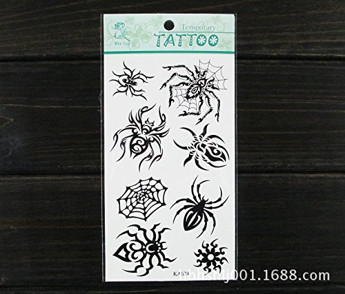 SYZ Beauty Waterproof Temporary Tattoos Spiders Nets Tattoos