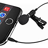 Deluxe Lavalier Lapel Clip-on Omnidirectional Condenser Microphone for Apple Iphone, Ipad, Ipod Touch, Android and Windows Smartphones