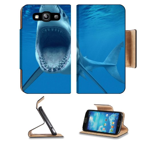 Animal Shark Wildlife Jaws Teeth Predator Ocean Sea Teeth Samsung Galaxy S3 I9300 Flip Cover Case With Card Holder Customized Made To Order Support Ready Premium Deluxe Pu Leather 5 Inch (132Mm) X 2 11/16 Inch (68Mm) X 9/16 Inch (14Mm) Luxlady S Iii S 3 P front-579181