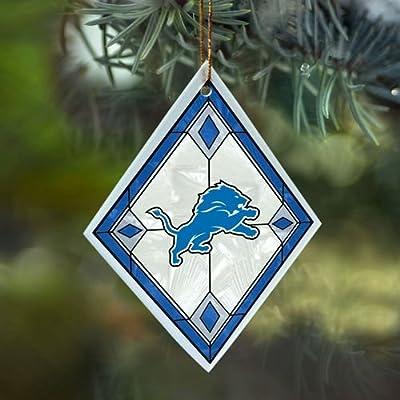 Detroit Lions - Art Glass Ornament